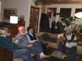 December 31 Larry Carpenter ensuring that we were entertained till midnight!