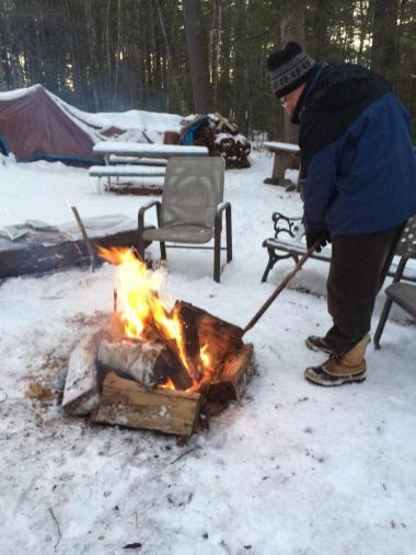 January 1 Starting the year with an outdoor fire - wonderful!