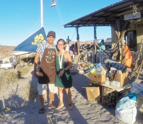 April 21 Pepe and Grecia with the donations in San Evaristo