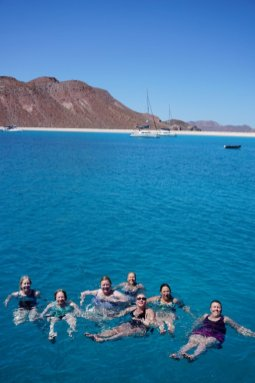 April 19 The crew of S/V Anytime - Women Who Sail Sea of Cortez Rendezvous