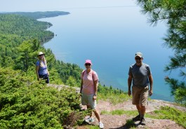 June 24 Hike overlooking Lake Superior with Sherie and Dennis