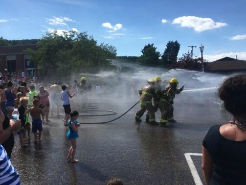 July 4 Firefighter water fight