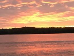 July 7 Beautiful sunset as a reward after a 100NM day! Batchawana Bay Lake Superior