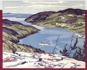 A. J. Casson's painting of Baie Finn