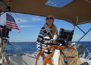 September 9 Julie at the helm