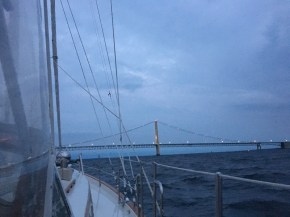 September 25 Approaching the Mackinaw Bridge