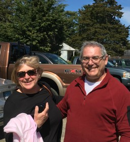 April 23 Fellow Gozzard Owners Susan and George Rodriguez in Connecticut