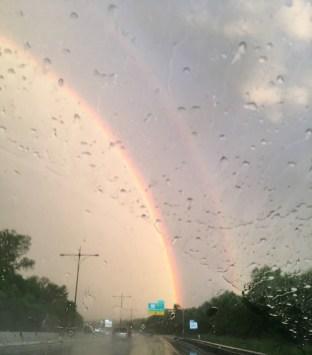 June 28 Rainbow as we drive to Rhode Island