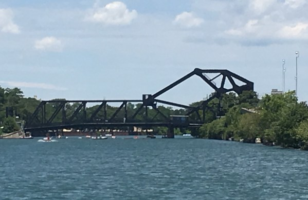July 9 Bascule Bridge in its down position