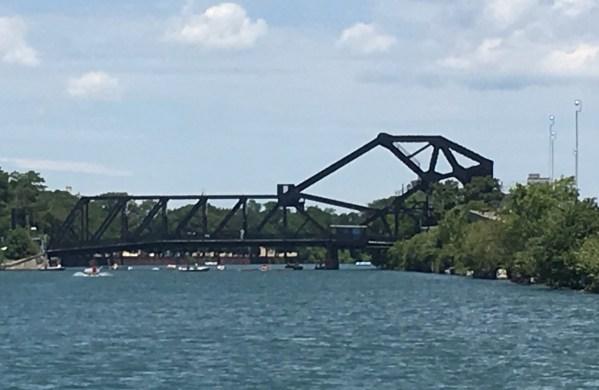 July 9 Bascule Bridge in its down position