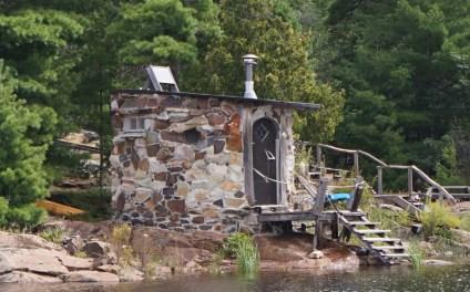 August 10 Sauna along the shoreline in McGregor Bay