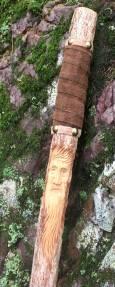 Julie's trusty hiking stick