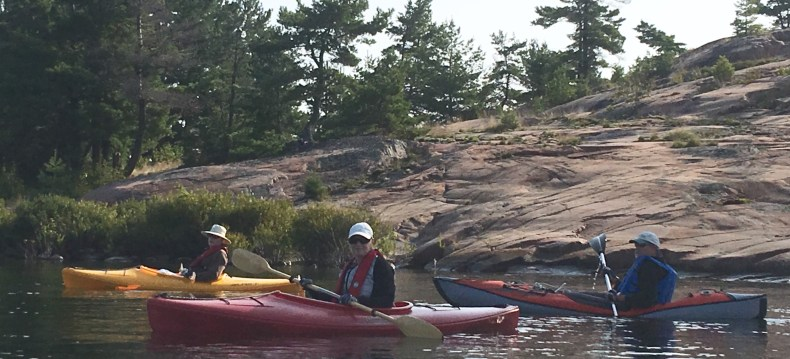 August 27 Kayaking with Jerry and Clare