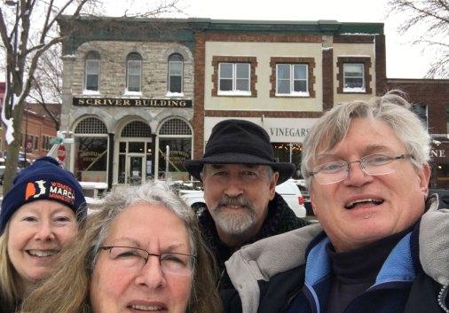January 25 Selfie with Dan, Niels and Vicki