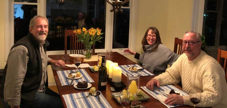 February 10 - dinner with Dan and Kristin - new boats and new adventures!