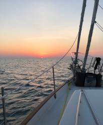 Jun 29 Crossing Lake Huron - Overnight Sail!