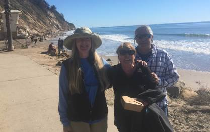 Jan 23 With Bob and Ilona at Hendrys Beach, Santa Barbara