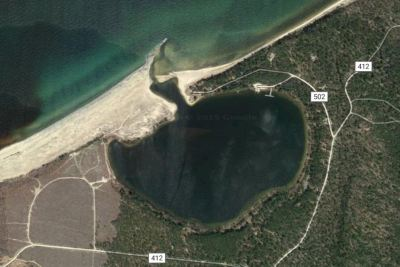 Satellite view of Little Lake