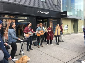 Dec 1 The famous Dwayne Gretsky band busking for charity in Toronto
