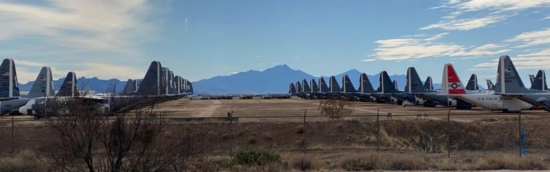 Dec 31 Plane boneyard in Tucson Arizona