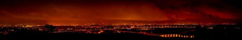 View from Gavinburn at Night