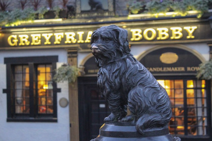 Greyfriars Bobby, a dog statue that we looked at for a bit.