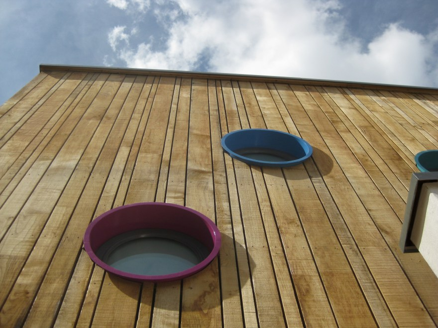 Sweet chestnut timber cladding, sustainable architecture,