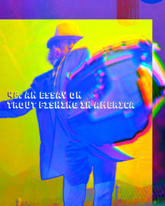 distorted image of richard brautigan with quote