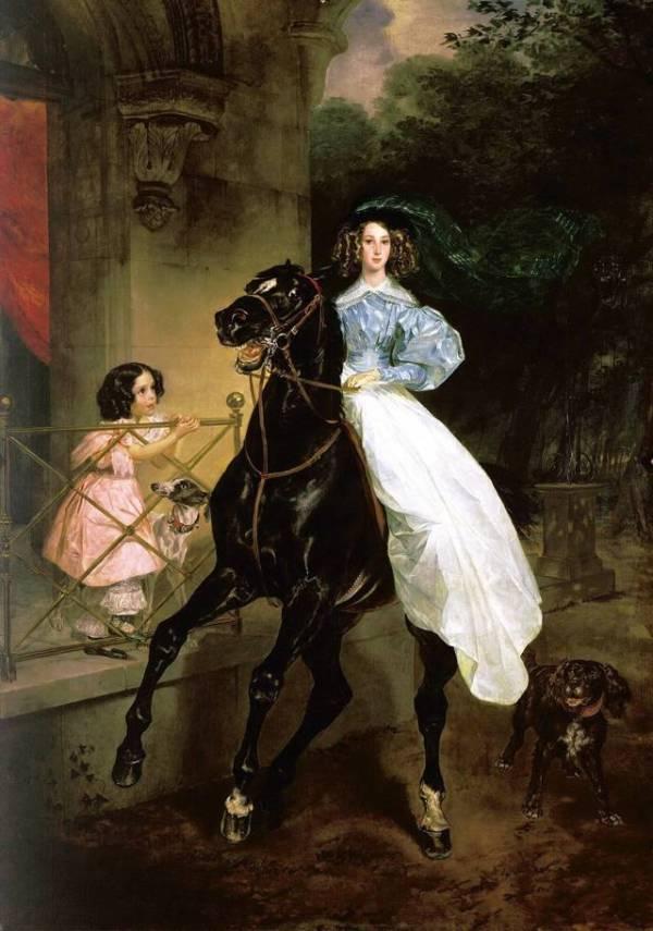 Описание картины брюллова - всадница - Галерея