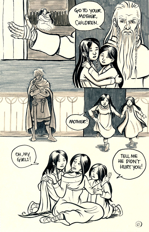 Merlin allows Morgause abd Morgana to rejoin their mother Ygraine