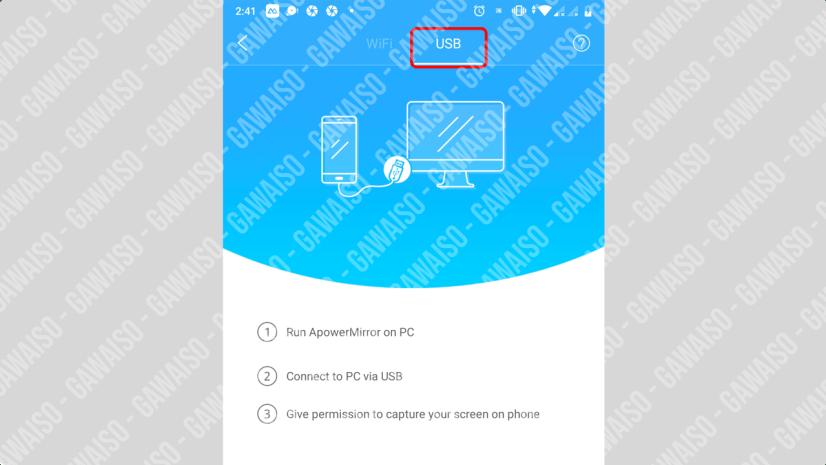 cara menghubungkan layar android ke pc - buka apowermirror mobile