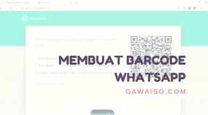cara membuat barcode whatsapp featured