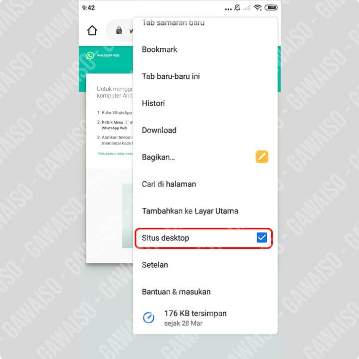 cara membuat whatsapp 1 nomor 2 HP - desktop site