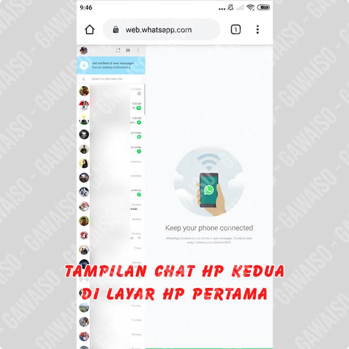 cara membuat whatsapp 1 nomor 2 hp - whatsapp web