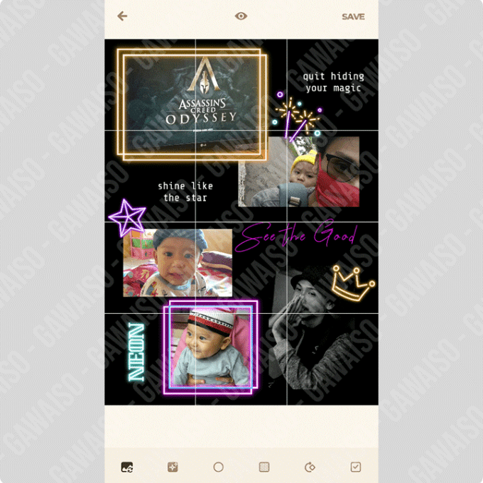 membuat feed instagram nyambung - puzzle collage template for instagram
