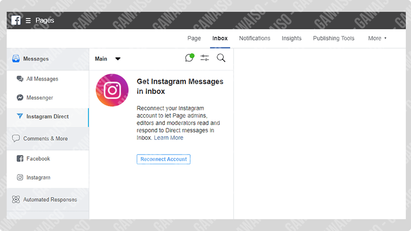 cara dm instagram di pc - facebook fanspage