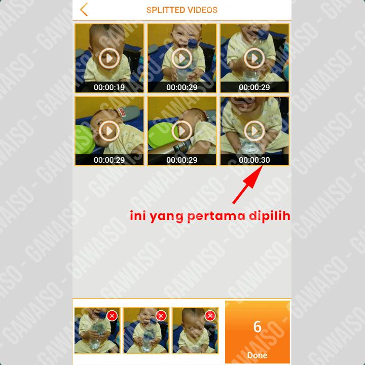 cara memotong video untuk status wa - pilih semua video
