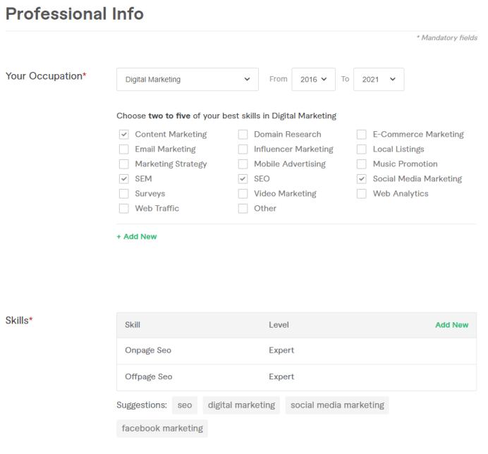 cara daftar fiverr profesional