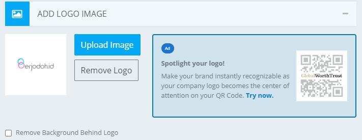 cara agar qr code ada logonya