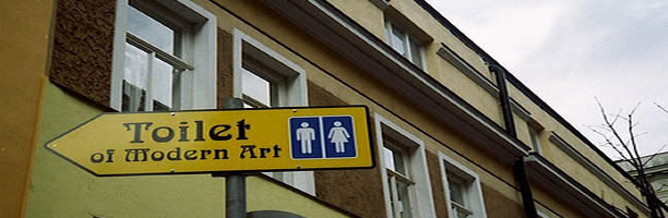 Funny Signs: Modern Are Toilet Sign, Austria