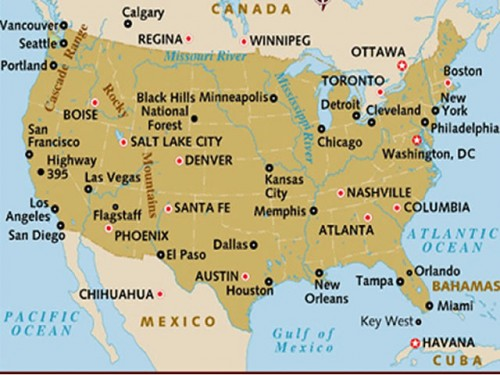 Cities in USA
