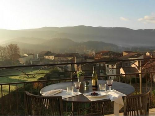 Terrace at the Le couvent d'Herepian, Frace