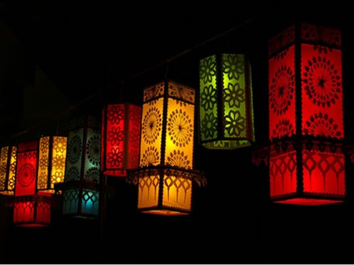Vesak Lanterns at a Local Shop