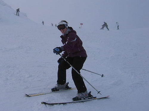 Skiier At Coronet Peak