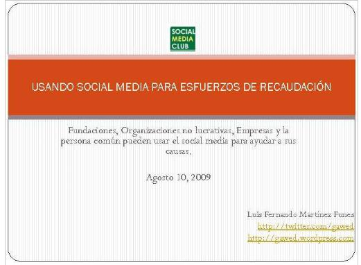 Socia Media Sin Fines De Lucro Lfmf_1250044914660