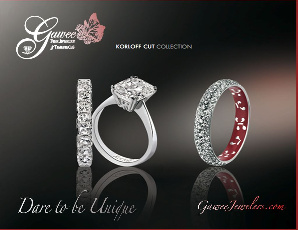 korloff cut wedding bands