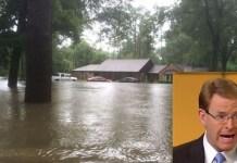 """Um pastor americano conhecido por afirmar que desastres naturais são enviados por Deus para punir gays teve a casa inundada por uma enchente, na Luisiana.Tony Perkins contou que foi obrigado a deixar sua casa em uma canoa com sua família. Ele compartilhou fotos no Facebook e falou sobre o caso em um podcast. """"Isso é uma enchente de proporções quase bíblicas"""", disse Perkins ao grupo cristão Family Research Council, polêmico por sua agenda anti-LGBT.""""Tivemos que escapar da nossa casa no sábado de canoa. Havia cerca de 3 metros de água na saída da garagem. Nossa casa encheu, nossos carros encheram"""", disse."""