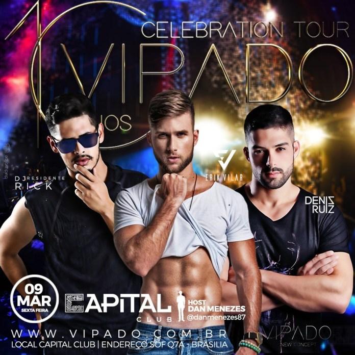 Vipado Celebration Tour 10 Anos desembarca no Capital Club de Brasília