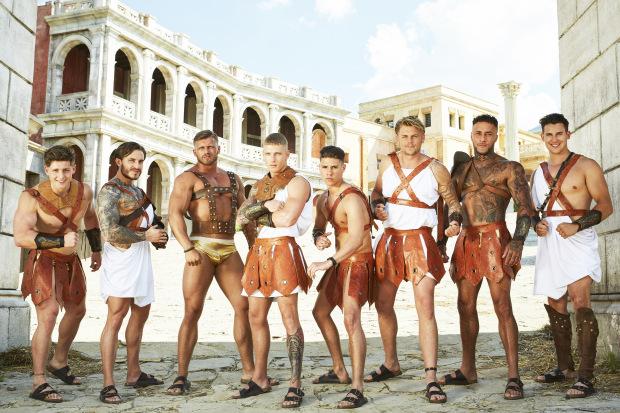 Tom, Richard, Dino, Brandon, Glenn, Jordan, Tian and Kai (Picture: ITV)