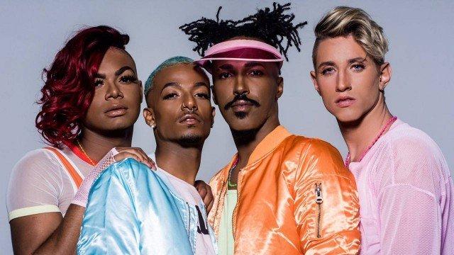 Jhury, Thiago, Bibiu e Lucas formam a gay band 'Funtastic' Foto: Divulgação